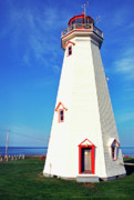 White Lighthouse.light Photos - East Point Lightstation PEI by Thomas R Fletcher