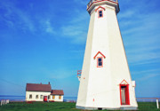 White Lighthouse.light Photos - East Point Lightstation by Thomas R Fletcher