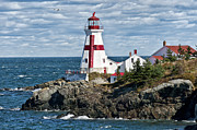 Seascapes Metal Prints - East Quoddy Lighthouse Metal Print by John Greim