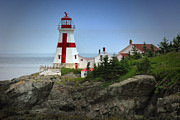 Quoddy Canvas Posters - East Quoddy Lighthouse Poster by Robert Wicker