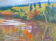 Fall Pastels - East River-fall scene by Rae  Smith PSC