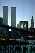 Brooklyn Bridge Prints - East River Tugboat Print by Mark Gilman