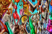 Construction Zone Prints - East Side Gallery Print by Joan Carroll
