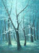 Austin Pastels Posters - East Texas Dogwood Tree Poster by Pat Neely