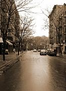 Sepia Photo Posters - East Village In Winter Poster by Utopia Concepts