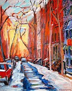 Greenwich Village Paintings - East Village Winter by Jim Flanagan