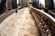Riverwalk Prints - East Wacker Print by John Rizzuto