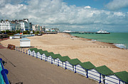 Beachy Prints - Eastbourne Beach Sussex UK Print by Donald Davis