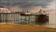 Sussex Digital Art Prints - Eastbourne Pier Print by Chris Lord