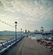 Victorian Style Posters - Eastbourne Pier Promenade Poster by Paul Grand Image