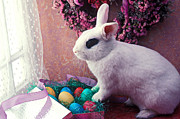 Wreath Art - Easter bunny by Garry Gay