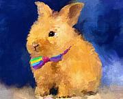 Tie Prints - Easter Bunny Print by Jai Johnson