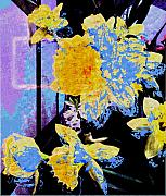 Lily Digital Art Originals - Easter Daffodils by Mindy Newman