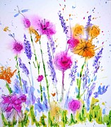 Wet Into Wet Watercolor Prints - Easter Egg Hunt Print by Chris Blevins