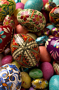 Hand Painted Framed Prints - Easter Eggs Framed Print by Garry Gay