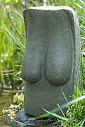 Stone Abstraction Sculptures - Easter Island Bust by Tommy  Urbans