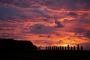Colorful Sunset Prints - Easter Island Print by Easter Island