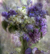 Easter Mixed Media Posters - Easter Lilacs Poster by Carol Cavalaris