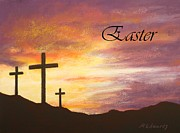 Jesus Pastels Prints - Easter Print by Marna Edwards Flavell