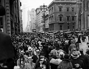 Crowd Scene Art - Easter Sunday On Fifth Avenue, New York by Everett