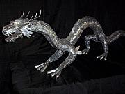 Sculptures Mixed Media Prints - Eastern dragon Print by Jeff Orebaugh