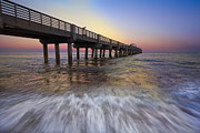 Florida Bridge Photos - Eastern Glow by Debra and Dave Vanderlaan