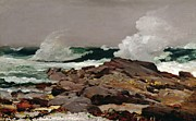 Rocks Paintings - Eastern Point by Winslow Homer