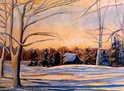 Eastern Townships In Winter Print by Carole Spandau