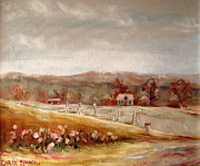 Rural Living Painting Posters - Eastern Townships Quebec Painting Poster by Carole Spandau