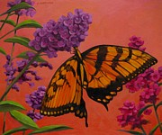Salmon Painting Posters - Eastern Yellow Swallowtail Poster by Don Morgan