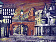 Medieval Paintings - Eastgate Clock - Chester by Ronald Haber