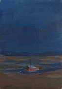 Eastham Painting Posters - Eastham sailboat at night Poster by Bill Revill