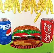 Fries Painting Originals - Easy Choice by Raul Martinez