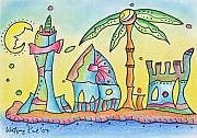 Happiness Drawings Originals - Easy Living in Cascais by Wolfgang Karl