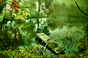 Water Scenes Metal Prints - Easy Morning Metal Print by Emily Stauring