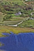 Aerial Acrylic Prints - Eat Fire Spring Road Polpis Nantucket Island  by Duncan Pearson