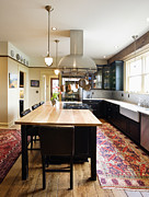 Wood Floors Posters - Eat-in Kitchen Poster by Andersen Ross