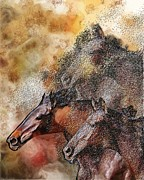 Kentucky Derby Prints - Eat My Dust Print by Donna Johnson