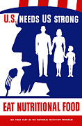Uncle Sam Posters - Eat Nutritional Food Poster by War Is Hell Store