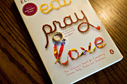 Paperback Cover Design Posters - Eat Pray Love Poster by Malania Hammer