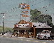 Route 66 Paintings - Eat by Steve Beaumont