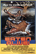 1970s Poster Art Framed Prints - Eaten Alive, Poster, 1977 Framed Print by Everett