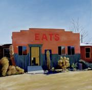 Restaurant Signs Paintings - Eats by Steve Metzger