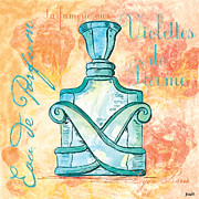 Bottle Painting Prints - Eau de Parfum Print by Debbie DeWitt