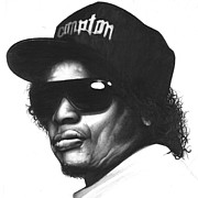 Harmony Drawings Posters - Eazy-e Poster by Lee Appleby
