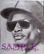Album Covers Drawings - Eazy E by Rick Hill