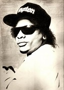E Black Drawings Prints - Eazy-E Print by Sam Miller