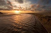 Amazing Sunset Framed Prints - Ebb and Flow Framed Print by Matt Tilghman