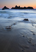 Stacks Prints - Ebb Stones Print by Mike  Dawson
