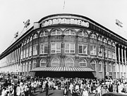 Brooklyn Dodgers Stadium Prints - Ebbets Field, Brooklyn, Nyc Print by Photo Researchers
